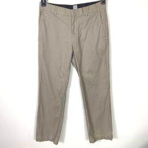 Gap Brown Straight Fit Khaki Pants 33×32